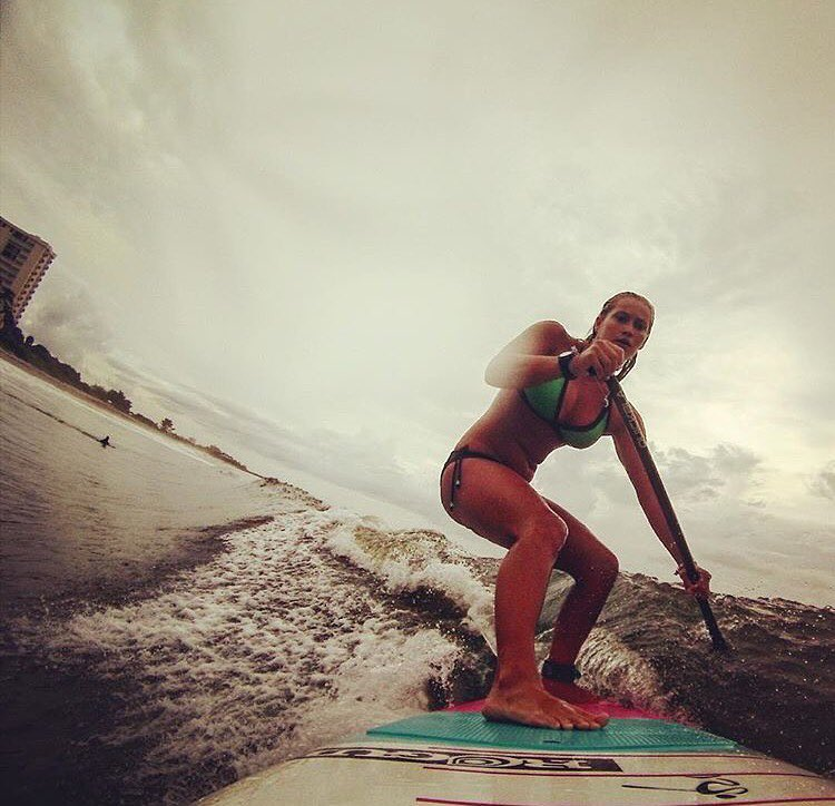 @sierraaaelizabeth shredding her new toy! #roguesup #sup #supsurf #paddle