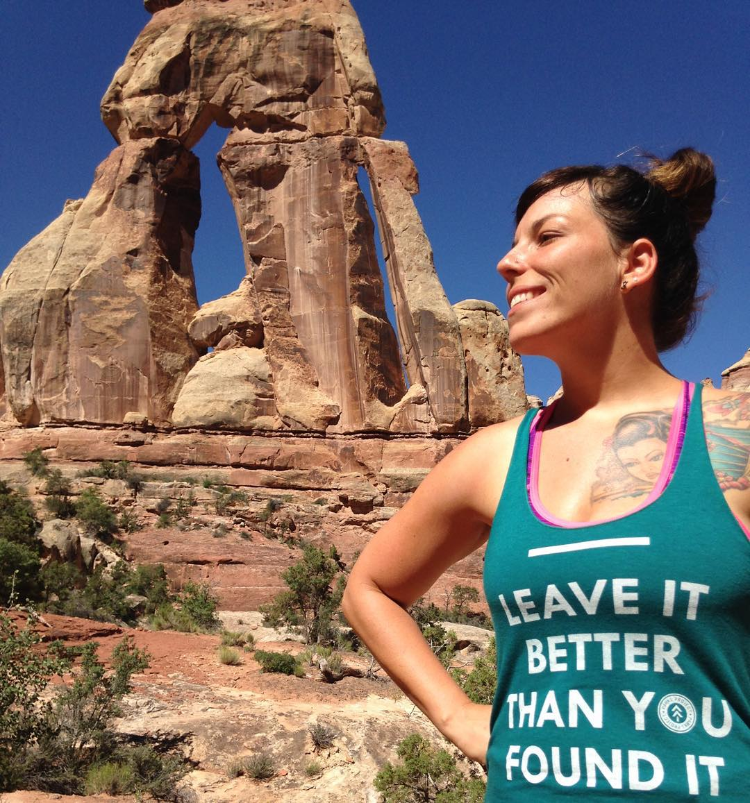 H A P P Y  F R I D A Y Our friend @sunshineinmotion just shared a photo from a hike in #canyonlands more in her blog too :) #leaveitbetterthanyoufoundit #radparks  #nationalpubliclandsday #utahisrad #nationalparks #adventure #weekend