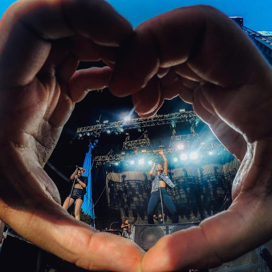 Do what you love this weekend! @mishavladimirskiy captures @IconaPop at @musicmidtown. Share your best moments with us by following the link in our profile. #GoProMusic
