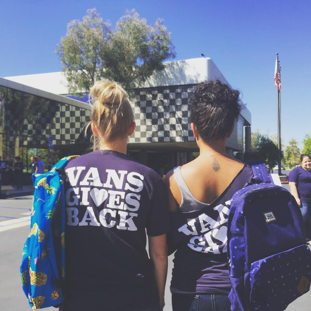 We had an incredible time today at @Vans HQ for their annual #VansGivesBack day! Vans employees packed over 200 backpacks to be donated to B4BC for our #SkateTheCoast and #B4BCCampusTour. Thanks you for your ongoing love + support!