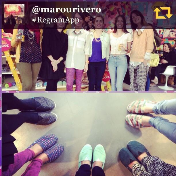 RG @marourivero: Aquí están ellas son el #dreamteam de @paezshoes gracias por venir!