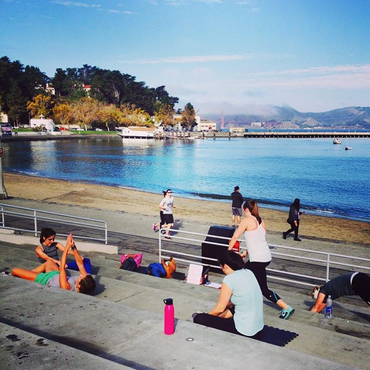 Workouts with a view are the best way to start a Saturday #sanfrancisco #fitness #morningroutine