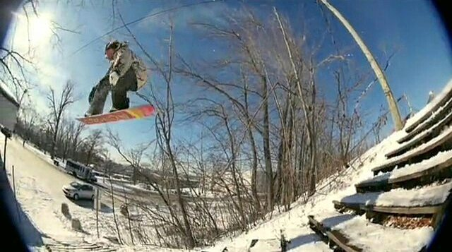 Still frame of @ryan_tarbell in the @686 Seconds video - Another rad movie out right now. #686seconds #snowboarding #fluxbindings #ryantarbell