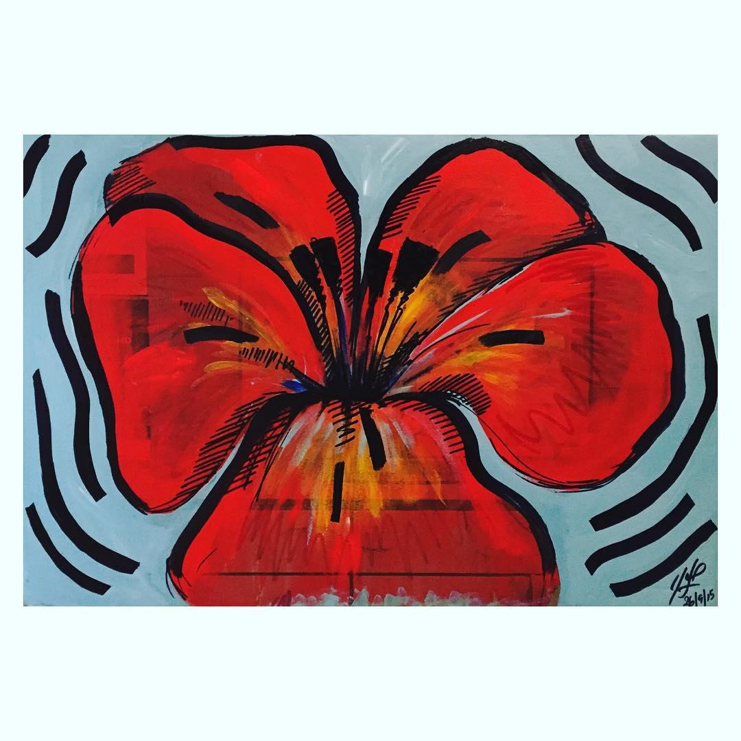 Suena la flor, alto como el corazon! #darte #florecequenoespoco
