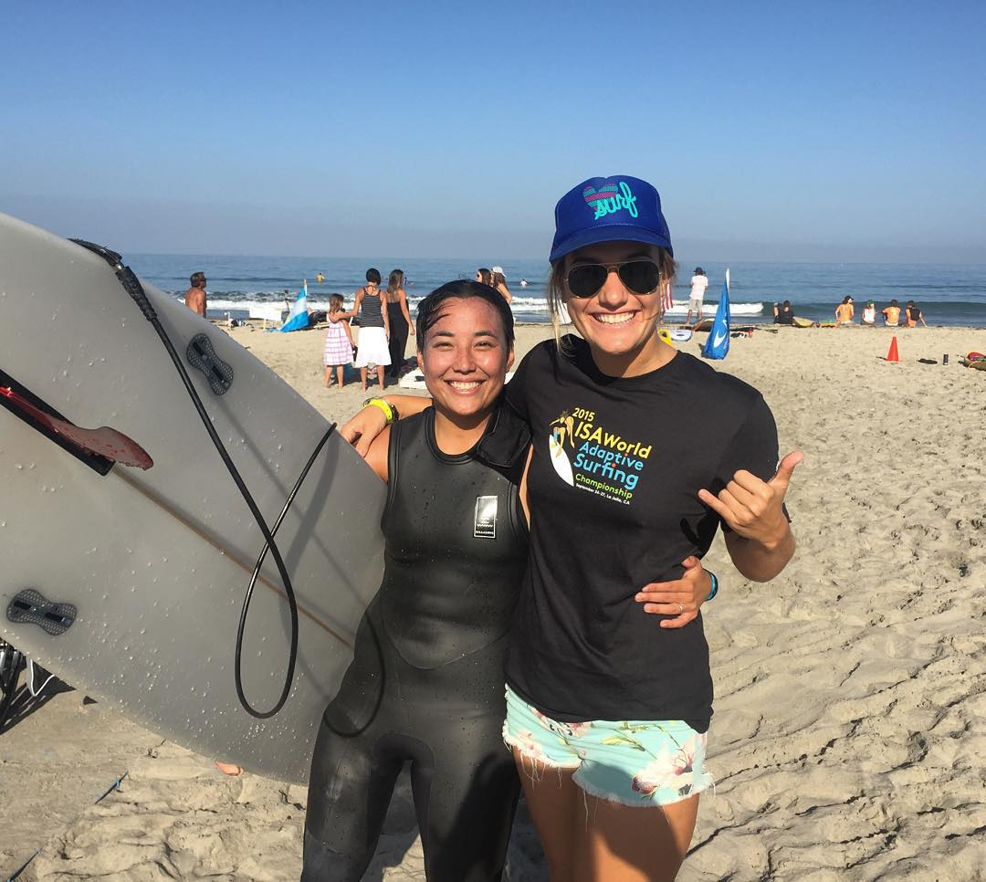 DO RAD THINGS // amped to be supporting our friend @dayni today at the ISA World Adaptive Surfing Championships. Wherever you are today send her some good vibes as she competes for the USA Surf Team!! @isasurfing @hurley @stancesocks @cafoundation...