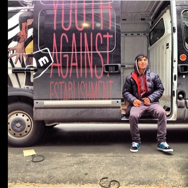 """El Chino"" @sandromoral #youthagainststablishment #volcom #skate"