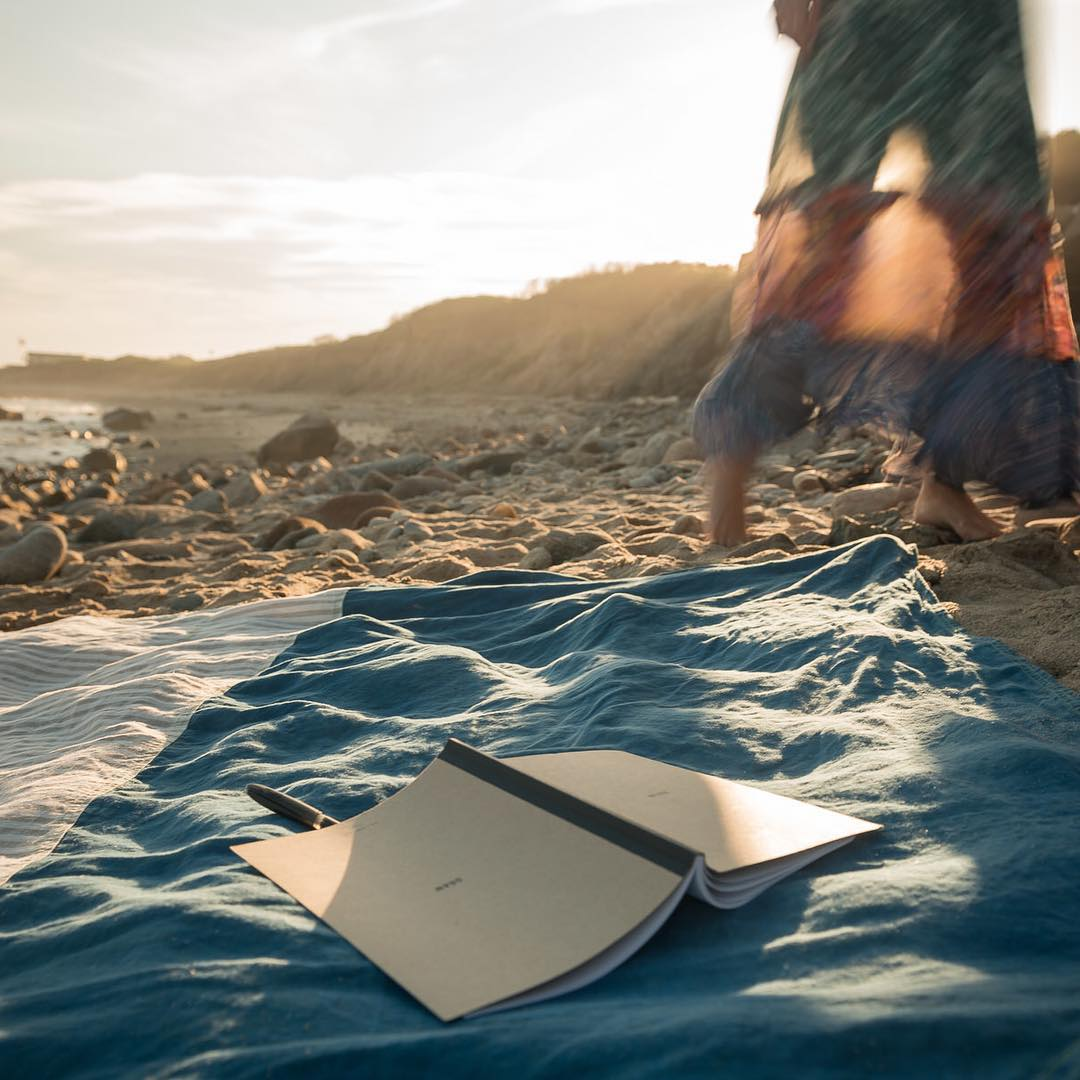 Sunday's are perfect for some of this: beach, blanket, notebook, pen, relax, create. Actually, any day is good for a bunch of that. // photo @timothyhoganprojects // #AllSwell