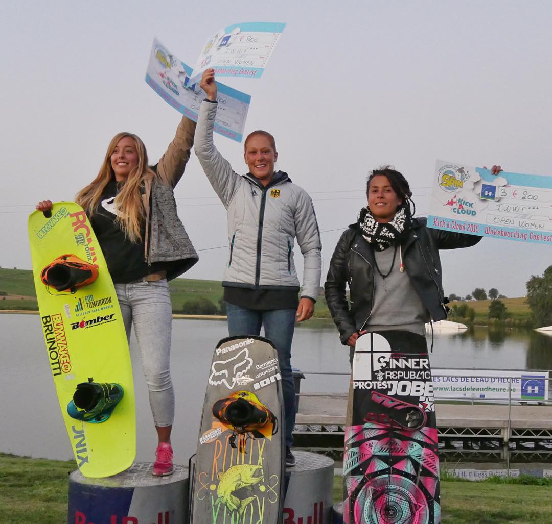 A big congrats goes out to @julia_rick holding down top spot at CWWC World Tour Stop in Belgium! Also @sanne_meijer taking 2nd, way to go Girls! #womenofronix #ronix2016 #kinetikproject #thebillboard #oneloveinwake #fortifiedwithlakevibes