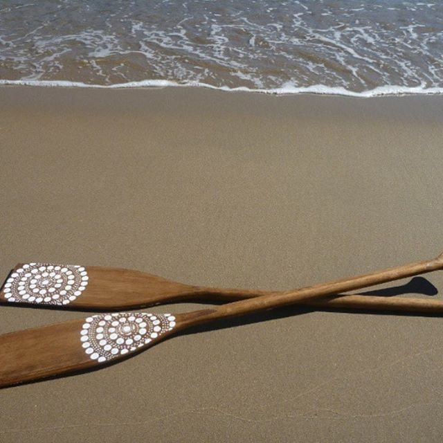 Find your canvas, whatever that may be // vintage oars by indigenous artist @saltwaterdreamtime // #AllSwell