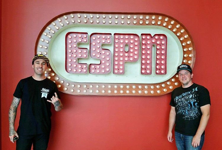 Four-time #XGames gold medalist @mike_mason81 has arrived at @ESPN headquarters in Bristol, CT!