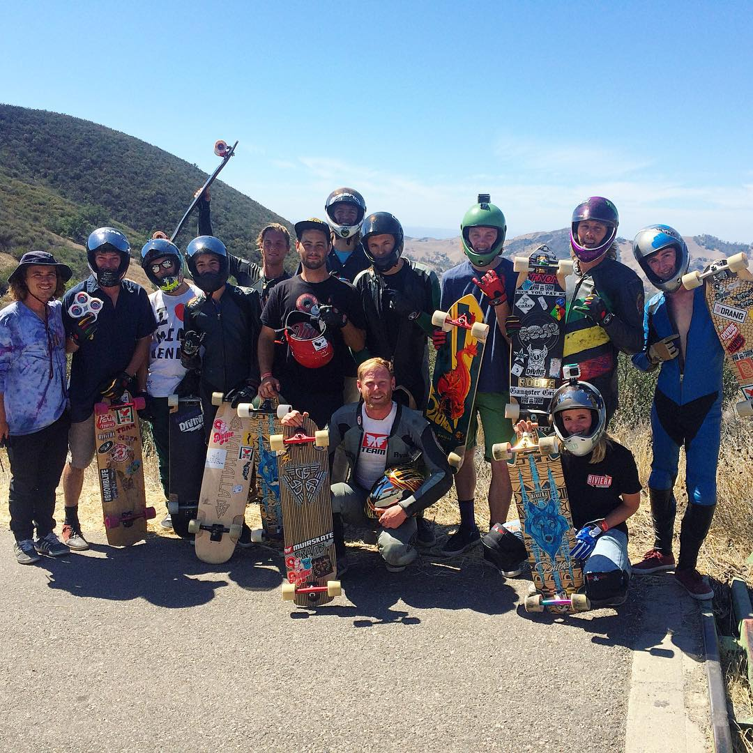The #divinewheelco team was out in full force at the #santagnarbaradownhill this weekend. Good looking bunch of riders right there! Big thanks to @toms_wurld and the entire @santa_gnarbara crew for hosting such a rad event. We'll be back next year, you...