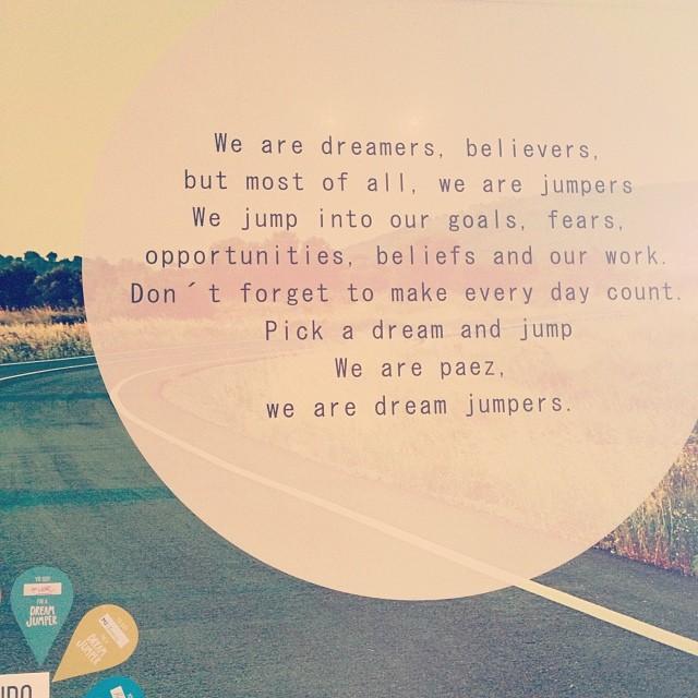 We are Paez, we are dream jumpers #Páez #shoes #paezshoes all around the globe www.laspaez.com.ar /paezshoes.com