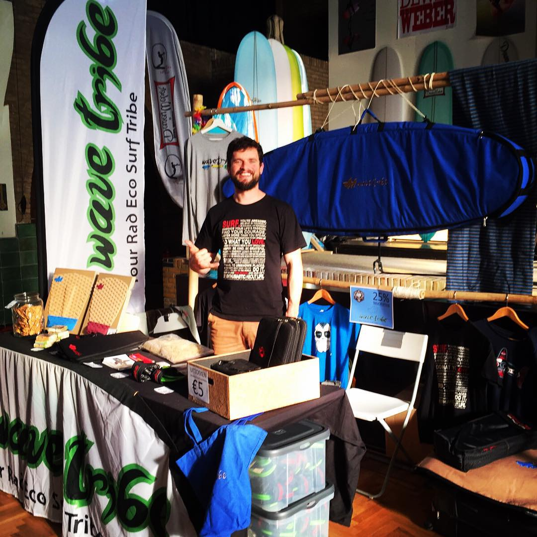 Wave Tribe Euro chief going native at surf festival. #ecosurf #ecofriendly
