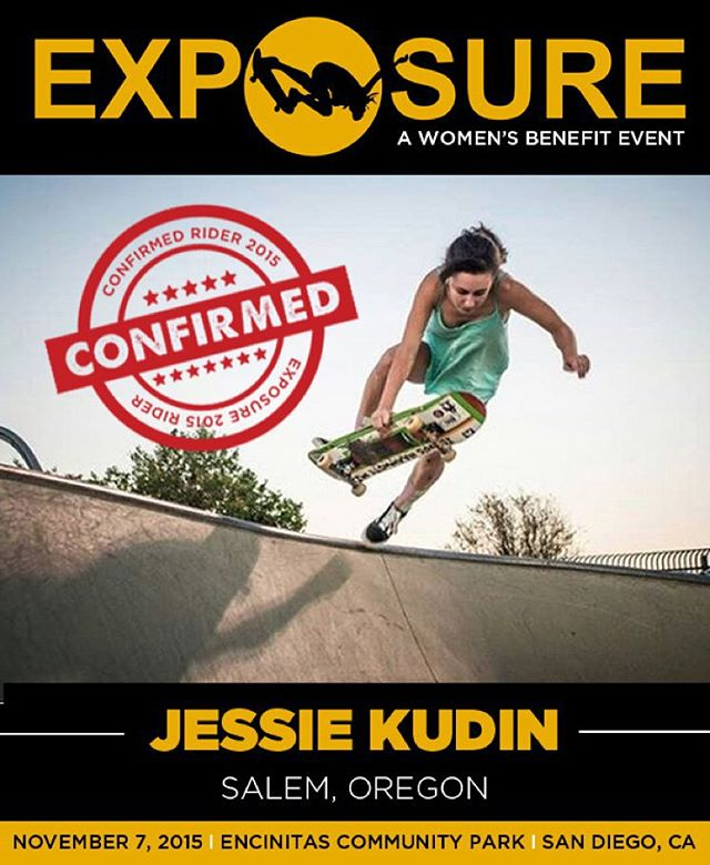 Jessie Kudin (@jessiejak) confirmed for EXPOSURE 2015!