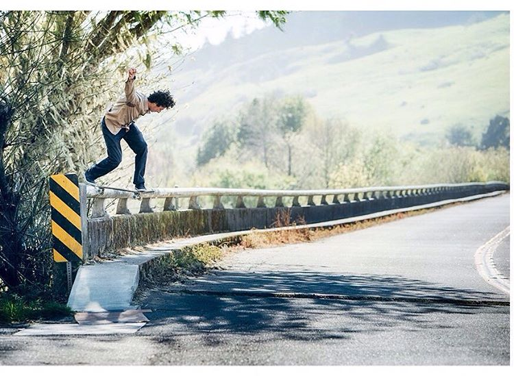 @Ethanloy lays down a heavy back tail in Big Sur, CA for our latest ad in the mags >>> Photo by #ElementAdvocate #BrianGaberman #EthanLoy