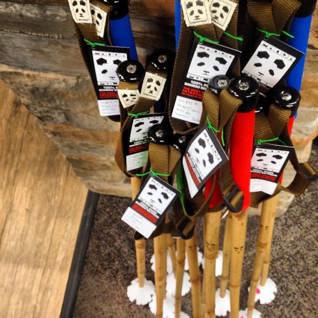 Just dropped off a fresh stack of #magicskiwands at Barrie's Ski & Sports in Pocatello... Come 'n get 'em while they're hot!  #pandapoles @barriesskiandsports