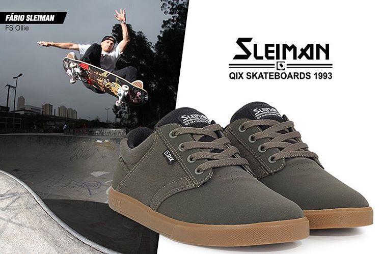 QIX Pro Model @fabiosleiman - Um tênis de skate confortável e com design atual. #qixteam #skateboardminhavida