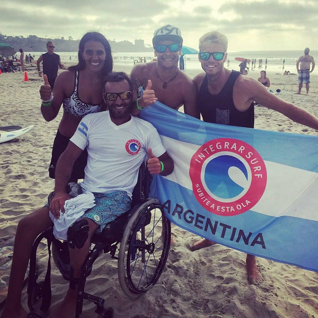 @leleusuna -  Ayer fue un dia muy emotivo, asisti al primer mundial adaptado de surf organizado por @isasurfing que se llevo a cabo aca en California. Quiero felicitar a todos los participantes y en especial a todo el equipo argentino. Me llena de...