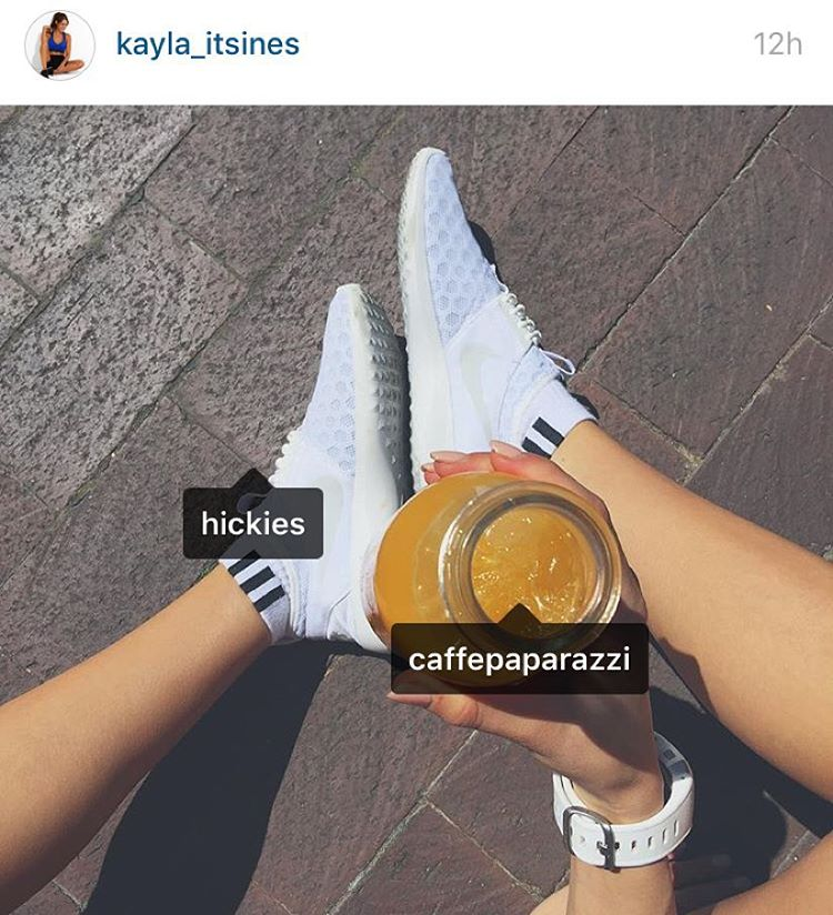 Who says you can't wear white after Labor Day? Check out @kayla_itsines in white on white HICKIES in her Nikes.