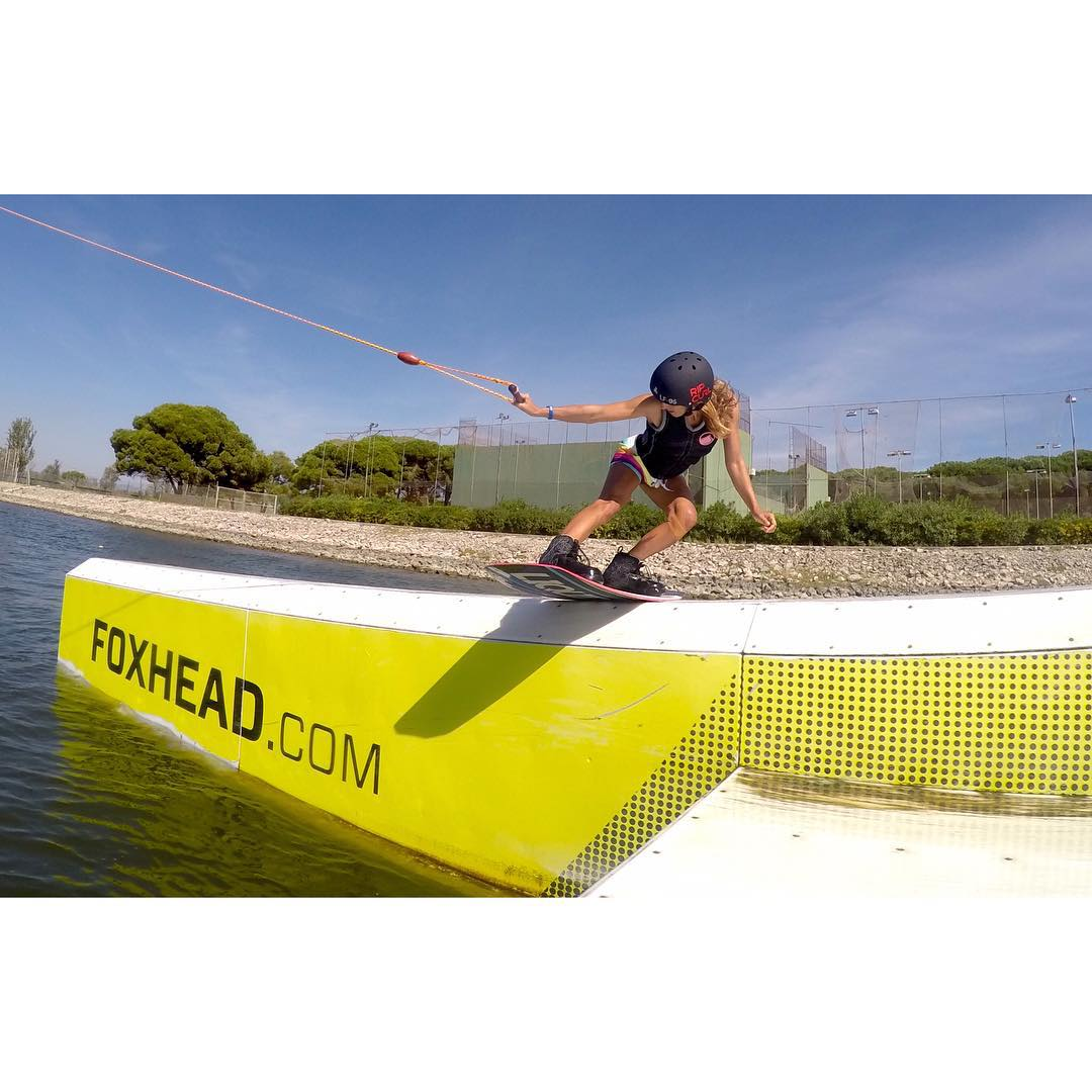 @robbierendo ripping @ocpcablepark in Barcelona!