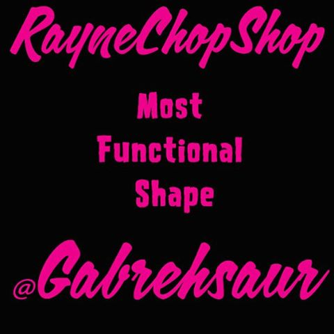 We are rolling out the winners for the two categories in the #raynechopshop shape contest!  Most functional/best overall chop goes out to @gabrehsaur for his super rad symmetrical chop of his #rayneotherside  DM us and we will get you your prizes!