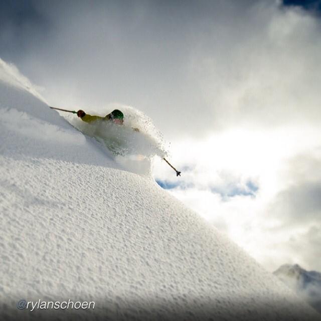 Skier: Adam Roberts Photo: Rylan Schoen Location: Mt. Baker, WA Ski Poles: Panda Radness: Supreme  @rylanschoen @adamroberts_skier  #magicskiwands #pandatribe