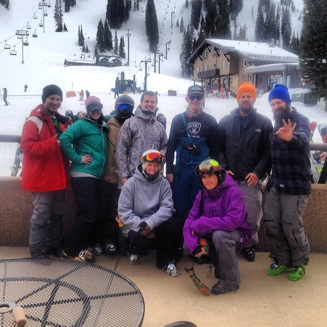 The whole 4FRNT crew at @altaskiarea today celebrating #crjday and givin a Yeah buddy! to everyone we saw. Happy CRJ day. SIP CR.