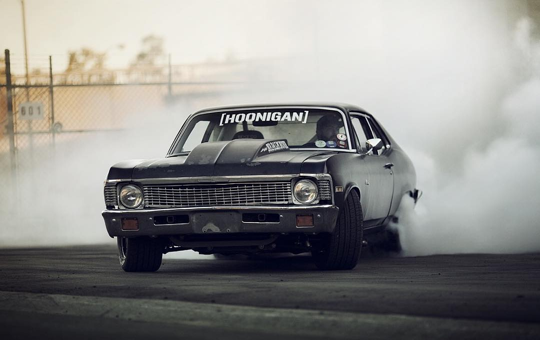 The burnout beef is real at the #donutgarage. @brianscotto 's contribution to the Tire Slayer Appreciation Week may be giving @hertlife a run for his money. You decide. Support the Tire Slayer movement, go to #hooniganDOTcom and grab some brand new...