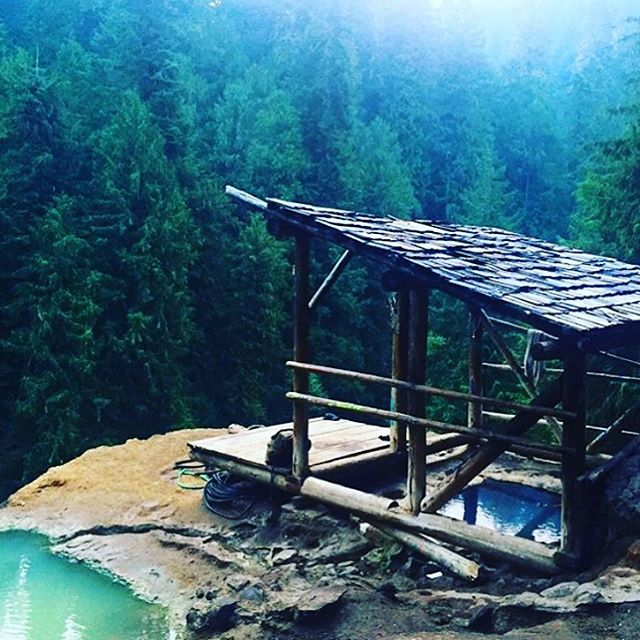 "With much respect to Virginia Woolf, maybe instead of ""A Room of One's Own"" we choose ""a naturally-occurring-hot-springs-on-a-mountain-top of our own."" #placestowrite #MistyMorningHop #AllSwell"