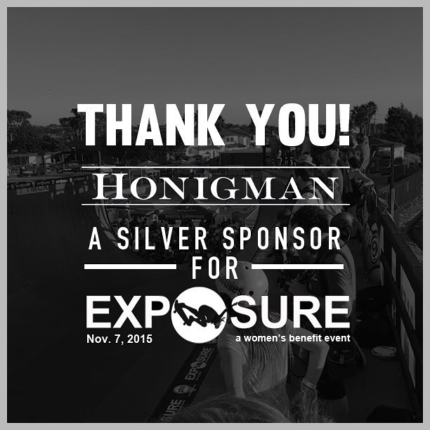 Thank you to Honigman confirmed to be a silver sponsor for Exposure 2015!! There are plenty of partnership opportunities still available, email partnerships@exposureskate.org to find out how you can help empower girls through skateboarding!