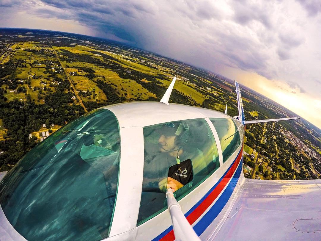 @rosssandmann dodging thunderstorms in a Mooney M20J Airplane. GoPro HERO4 | GoPole Reach #gopro #gopole #gopolereach #airplaneselfie #✈️