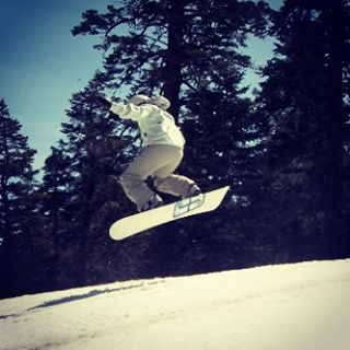 Catching some air on the mountain!