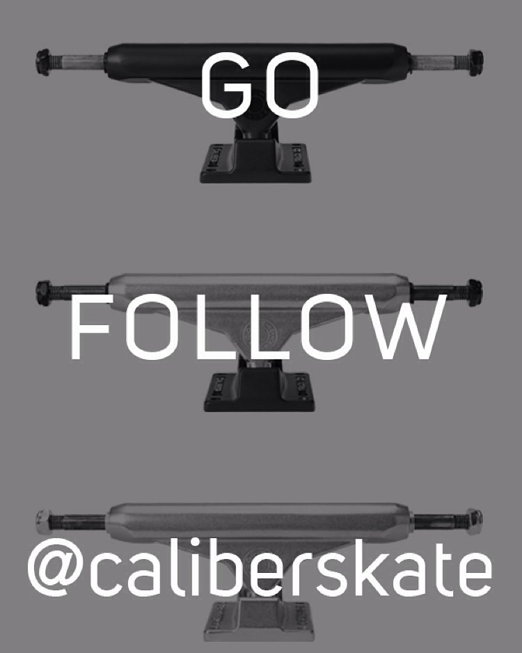 The Caliber street team launched its own Instagram page. Follow em @caliberskate for the latest and greatest #contestcomingmonday #caliberstandards