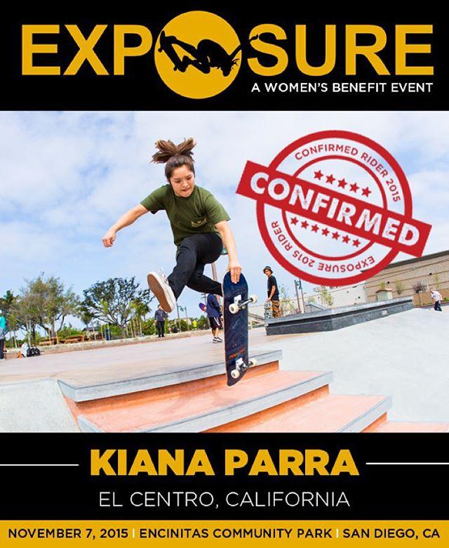 Kiana Parra (@kiana_parra) confirmed for EXPOSURE 2015!