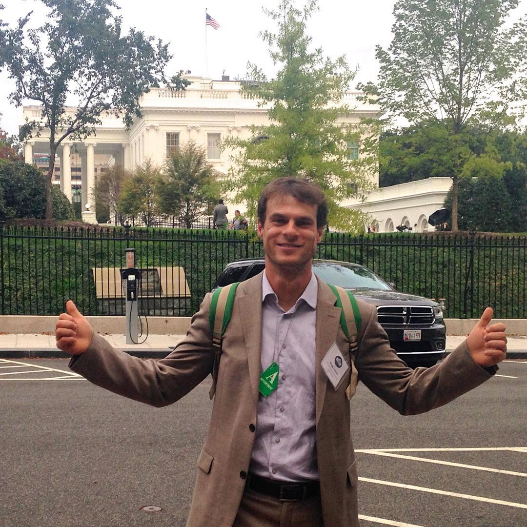 The stoke meter is high, as our executive director Gregg Treinish represents ASC today at the @whitehouse. Things are moving and shaking over here.  #whcitsci #adventurescience