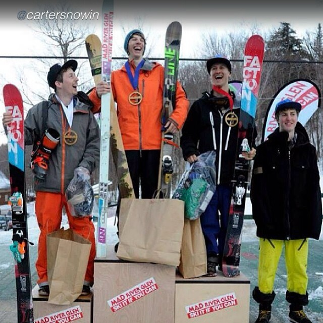 "Panda Athlete Carter Snow was ""Super stoked to land on top of an awesome podium at the first stop of @skitheeast freeride tour!"" last weekend in Mad River Glenn, VT... Yeah Carter! #tribeup!  Photo: Jeb Wallace-Brodeur  @cartersnowin #magicskiwands..."