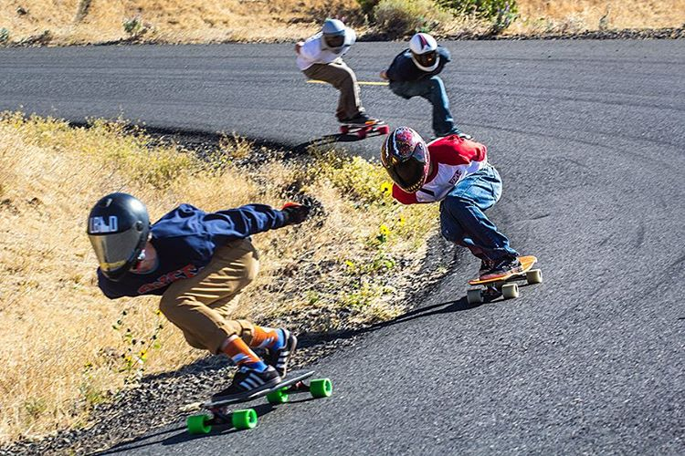 A snap of Devon Dotson (@devdot23) from the Fall Maryhill Freeride. We just uploaded more photos by @eridanusmedia to our website. Follow the link in our bio to check them out. #dblongboards #maryhill #dbkeystone #skateeverything