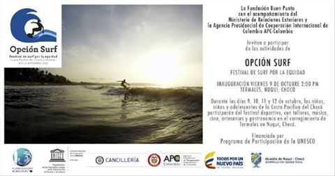Very excited about this Surf Festival in rural Colombia - national and international players coming together - celebrating the power of surf as a tool for empowerment and development!