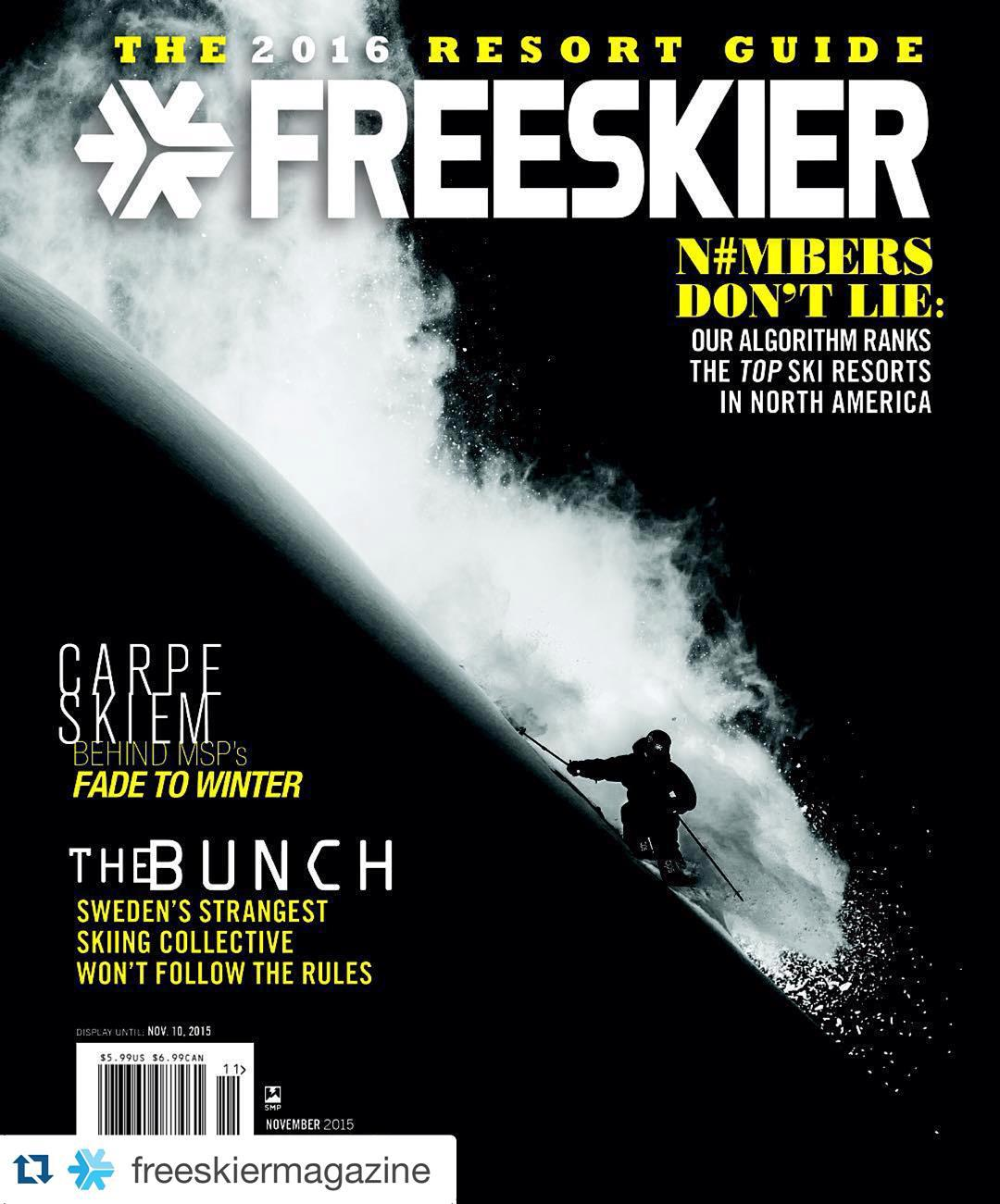 Congratulations to DPS Koala Pro-Team rider @pierssolomon and Photographer @oskar_enander for landing the cover of @freeskiermagazine! #Regram ・・・ Here's a look at the 2016 Resort Guide cover, starring @PiersSolomon​. Photographer @Oskar_Enander says...