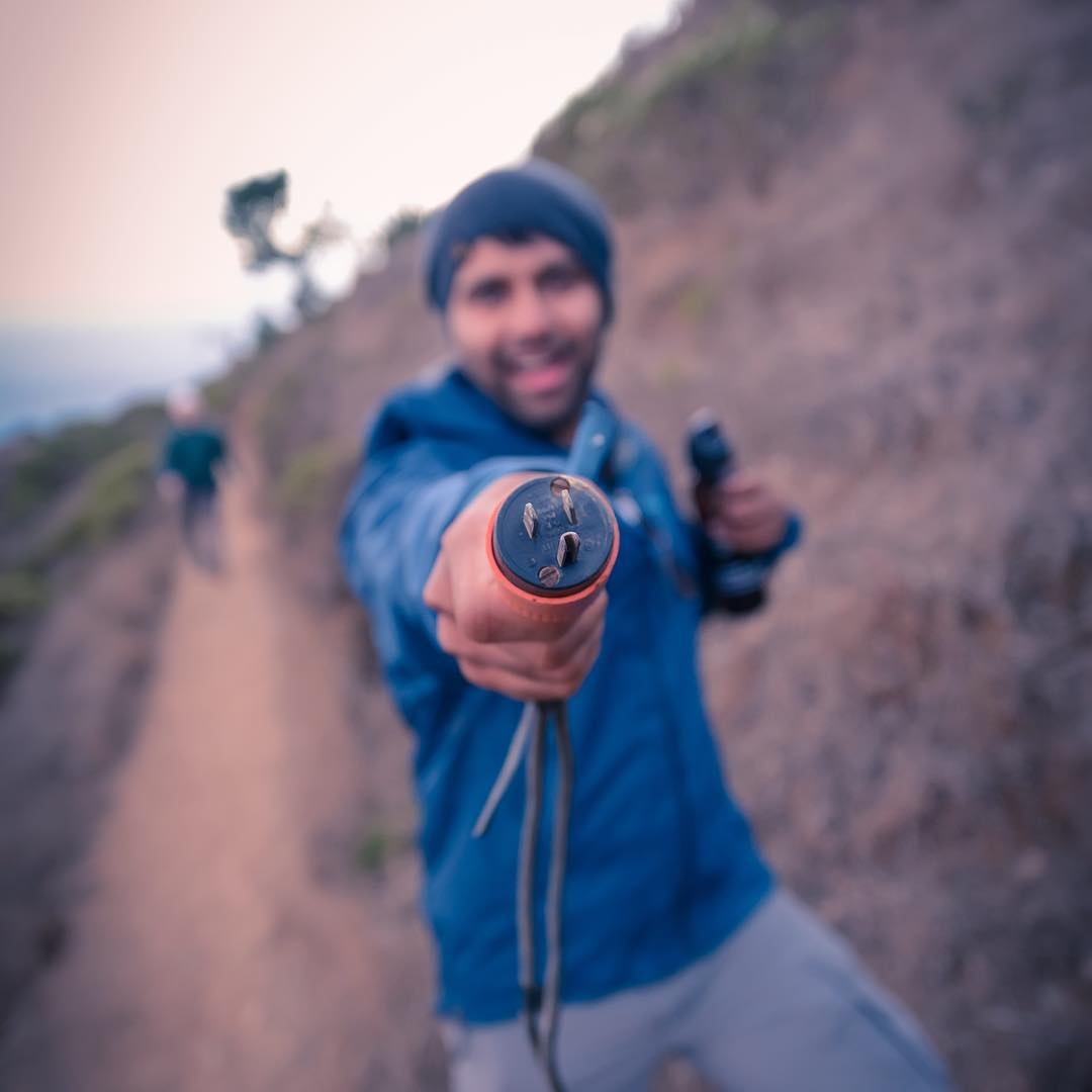 Weirdest thing found when hiking: a plug to nothing. How'd it get there? Why was @patelish so excited about it? We may never know.