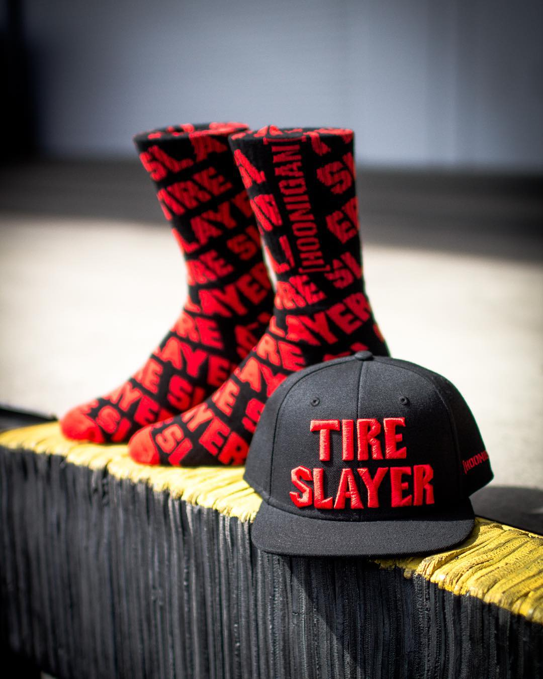 If you've been to #hooniganDOTcom lately then you already know about the all new Tire Slayer socks. Available now. #thatsnapbacktho