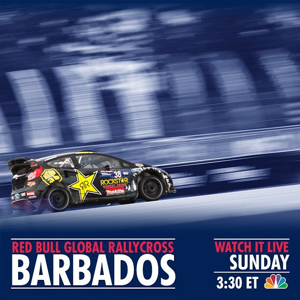 #GRC this weekend in Barbados! Kinda far for everyone to come watch in person lol. But you can watch it live on NBC Sunday at 3 30 ET