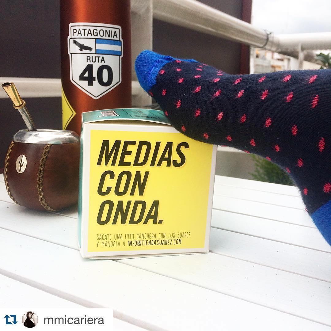La diosa de @mmicariera mateando con sus #MediasConOnda ✌️・・・ Acá sacándome una foto con onda para @tiendasuarez