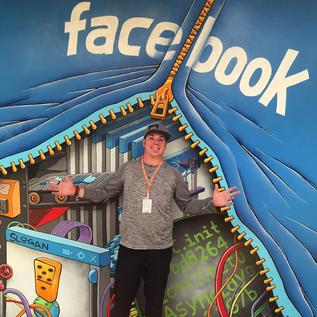 Thanks for the great tour, talk, lunch and ice cream @andymckeon #facebook #openthefuture #alltime