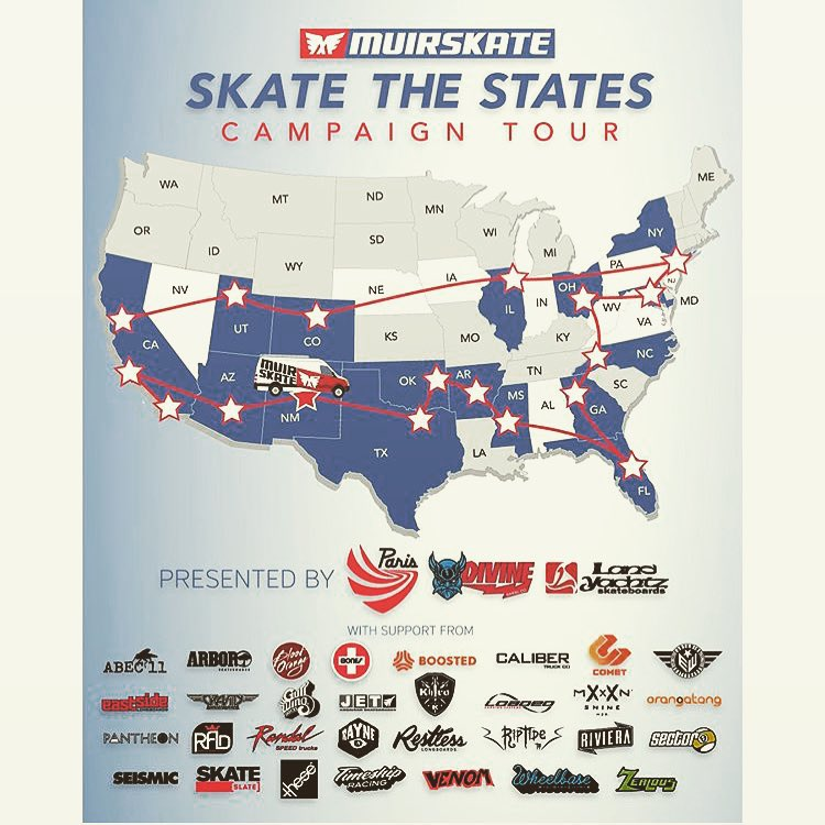 The Muir crew's trekkin through the south right now. Follow the trip @muirskate #muirskatethestates