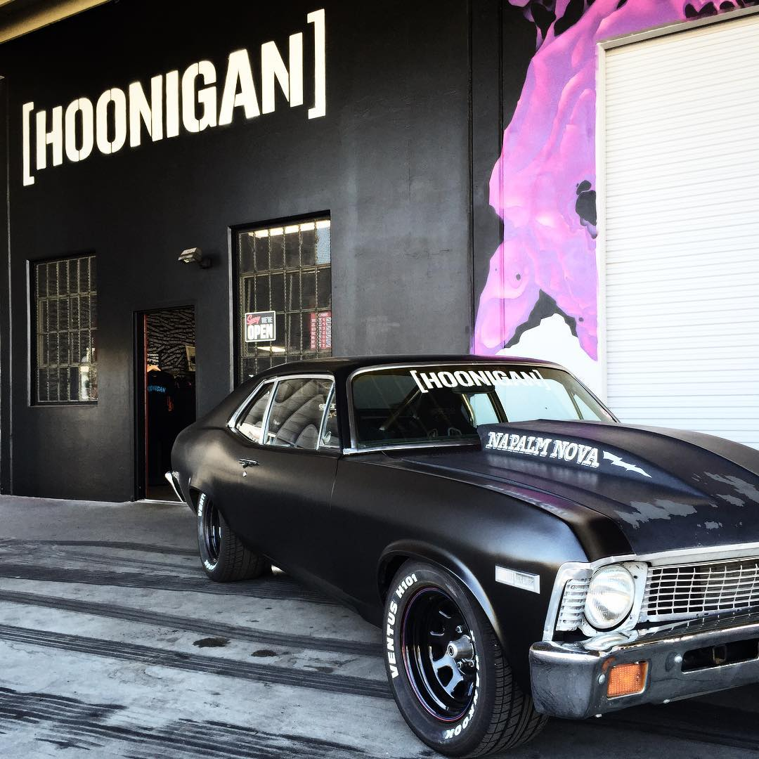 @BrianScotto's #NapalmNova is posted up outside of the Bakery and we'll be serving fresh baked goods until 7pm. #supportyourlocalhoonigans #DonutGarage #HNGNbakery
