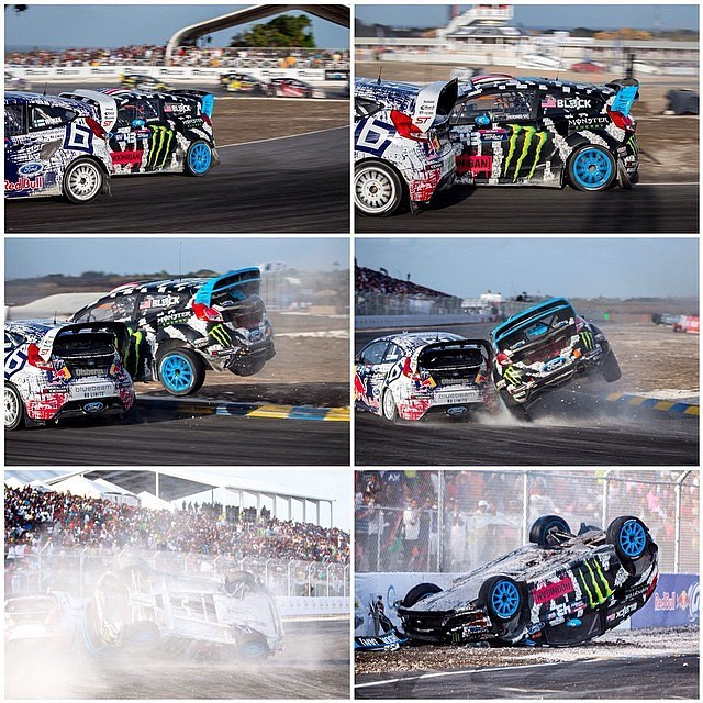 Heading into Global Rallycross Barbados this weekend, still leading Championship by 13 points - so here's a #TBT to this *substantial* roll I had at GRC Barbados last year. I was fighting hard for the lead, did a cut over a mellow curb - similar to a...