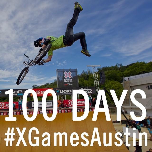 Let the countdown begin! #100days #XGamesAustin