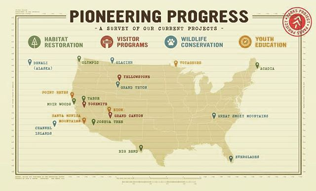 C U R R E N T  P R O J E C T S We've updated the website with our comprehensive list of projects and thanks to @pieperpics we have this neat map! #radparks #parksproject #habitatrestoration #visitorprograms #wildlifeconservation #youtheducation...