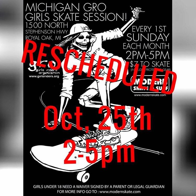 ATTENTION!! This up coming Michigan GRO session (Sunday Oct. 4th) has been RESCHEDULED. The new date is October 25th, the last Sunday of the month, just for this months session. Please share with your lady friends and contact Kristen Theos with any...